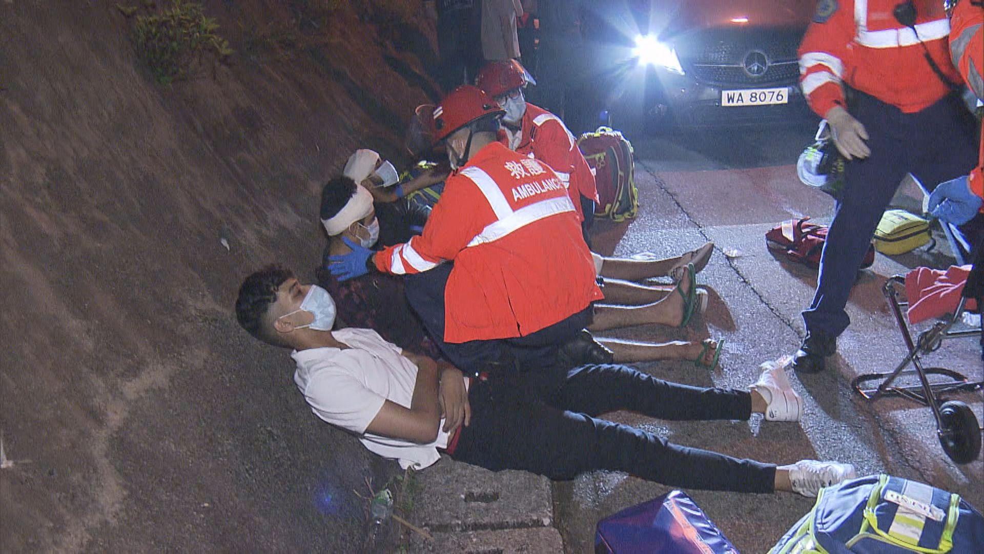 飛鵝山私家車失事撞山坡三南亞漢傷