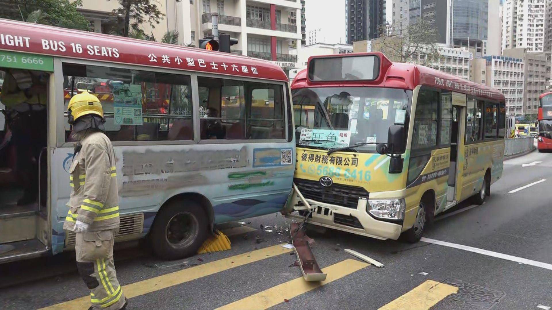何文田培正道小巴相撞 14人受輕傷