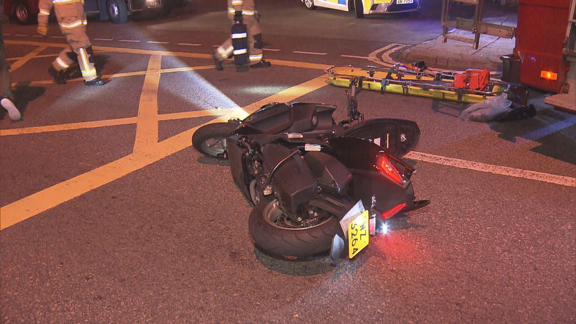 葵涌電單車與貨車相撞釀一死