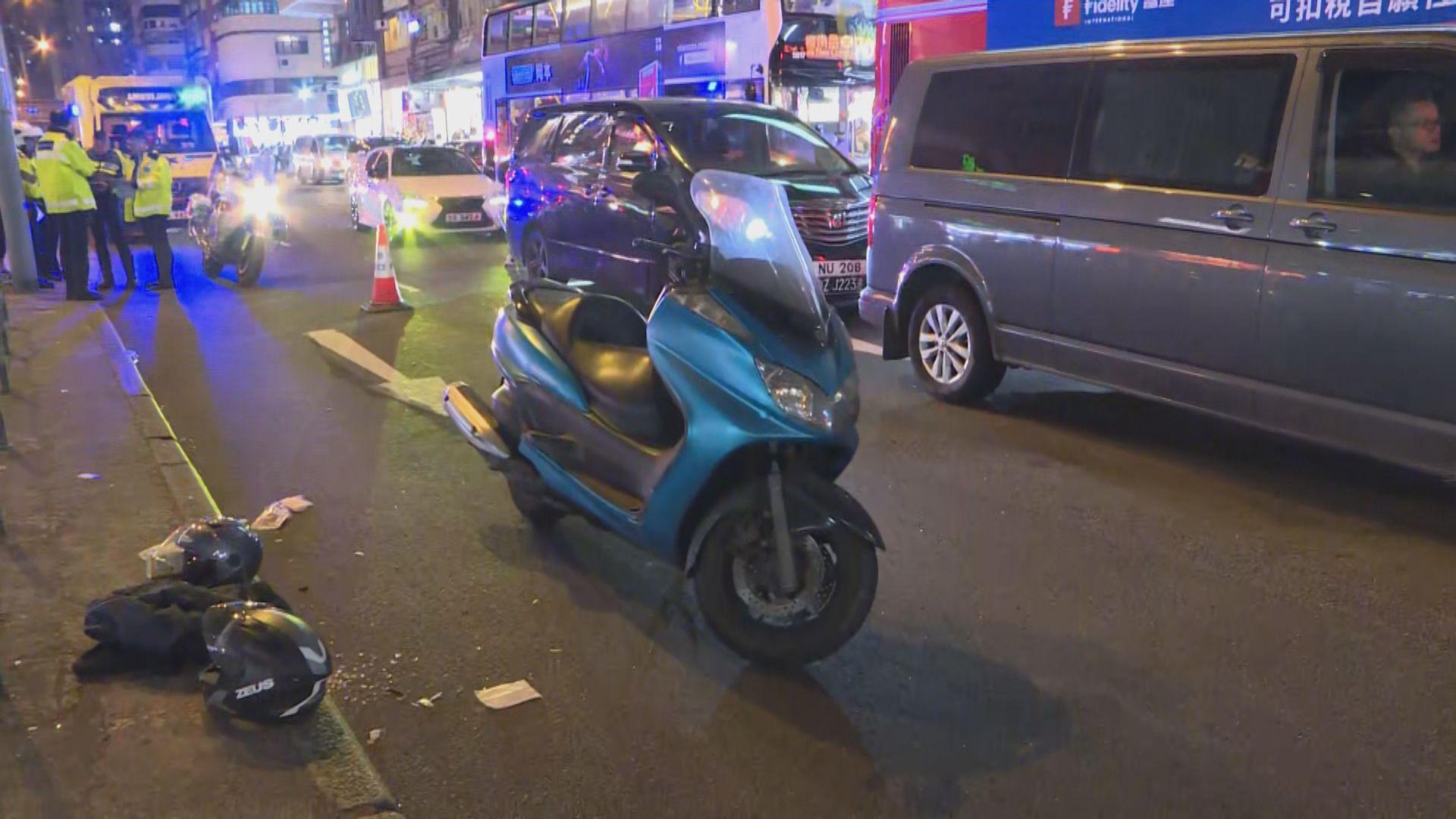 旺角電單車撞途人釀三人傷