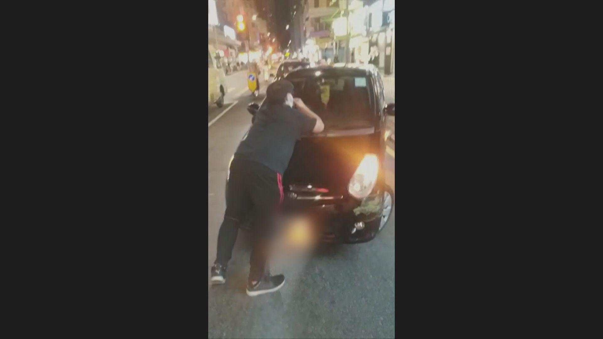 元朗私家車女司機涉企圖傷人被捕