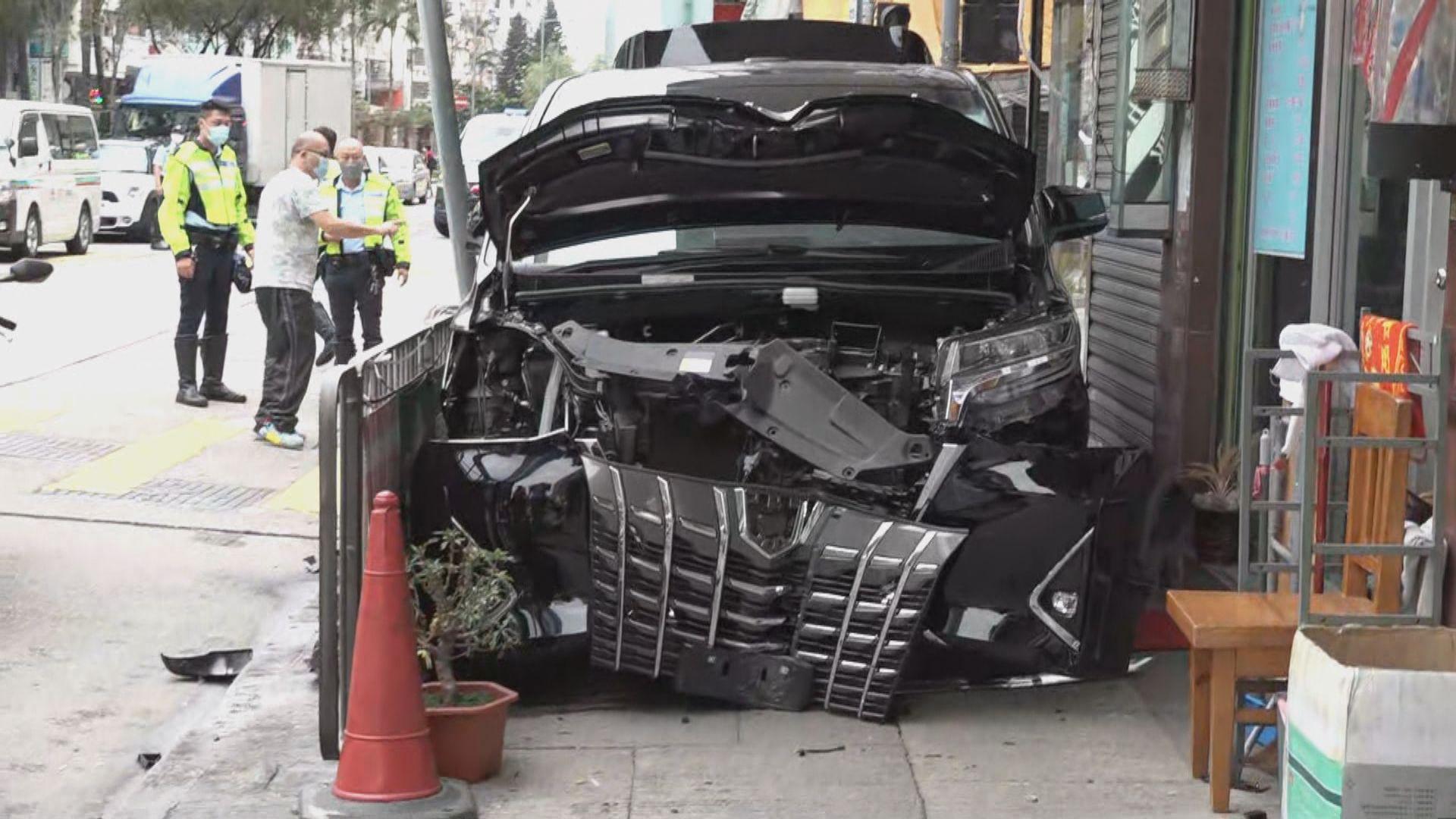 深水埗七人車與私家車相撞一人傷
