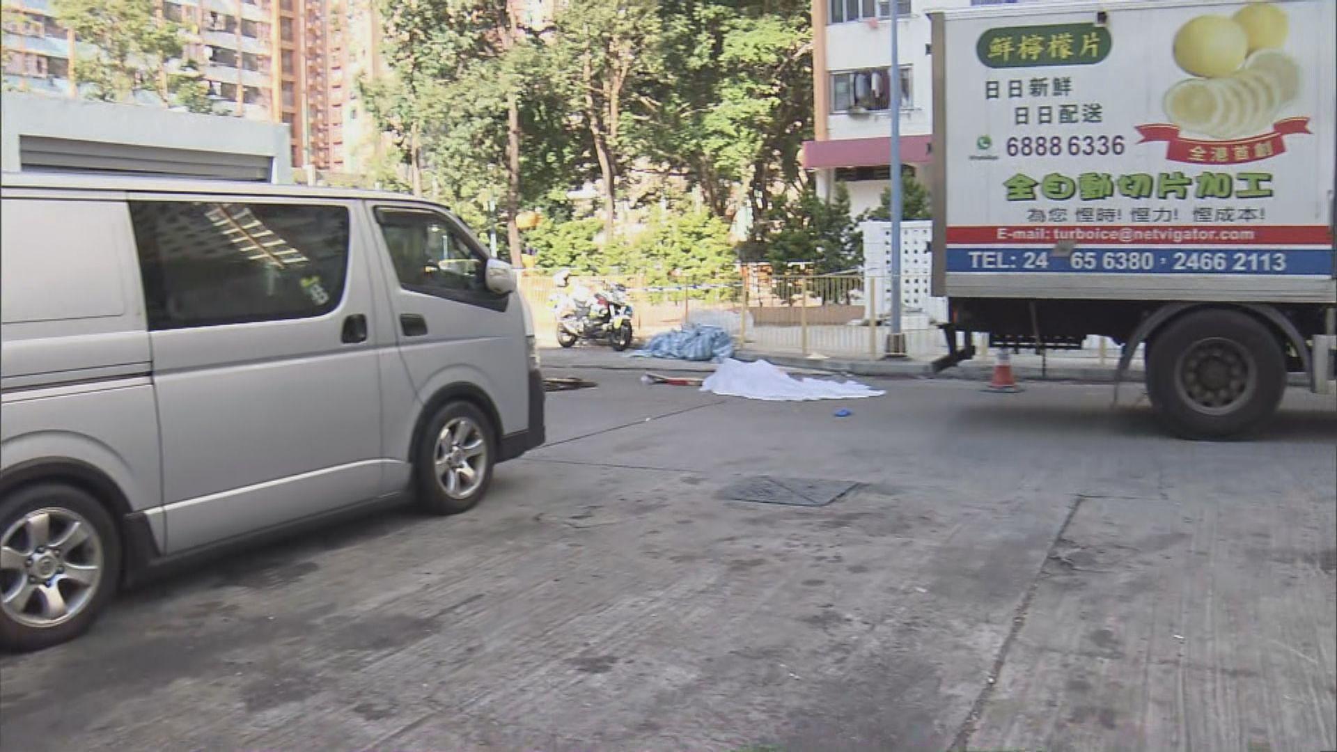 沙田沙角邨致命車禍 貨車撞斃過路女子
