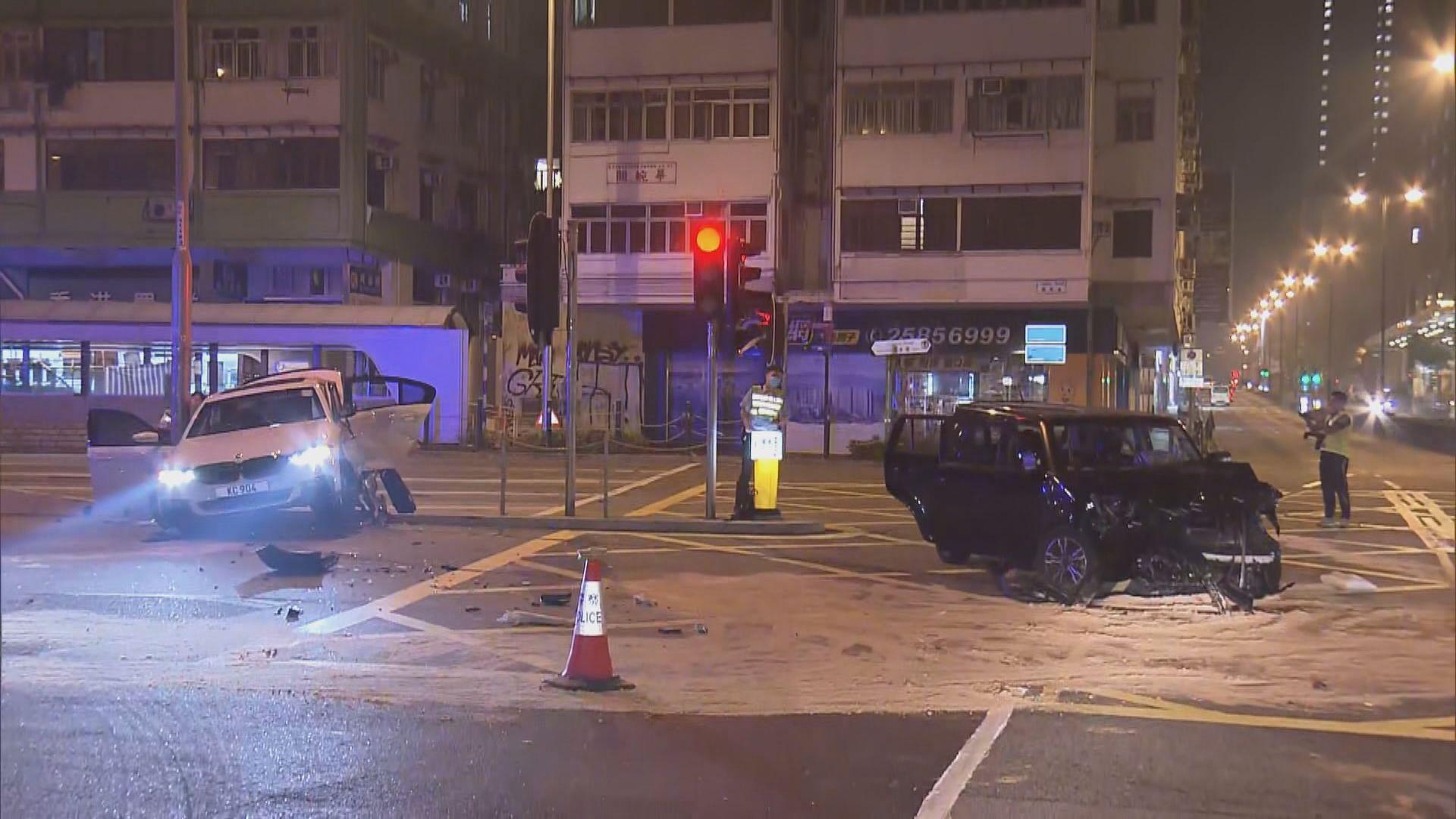 尖沙咀兩車相撞四人送院一司機涉酒駕