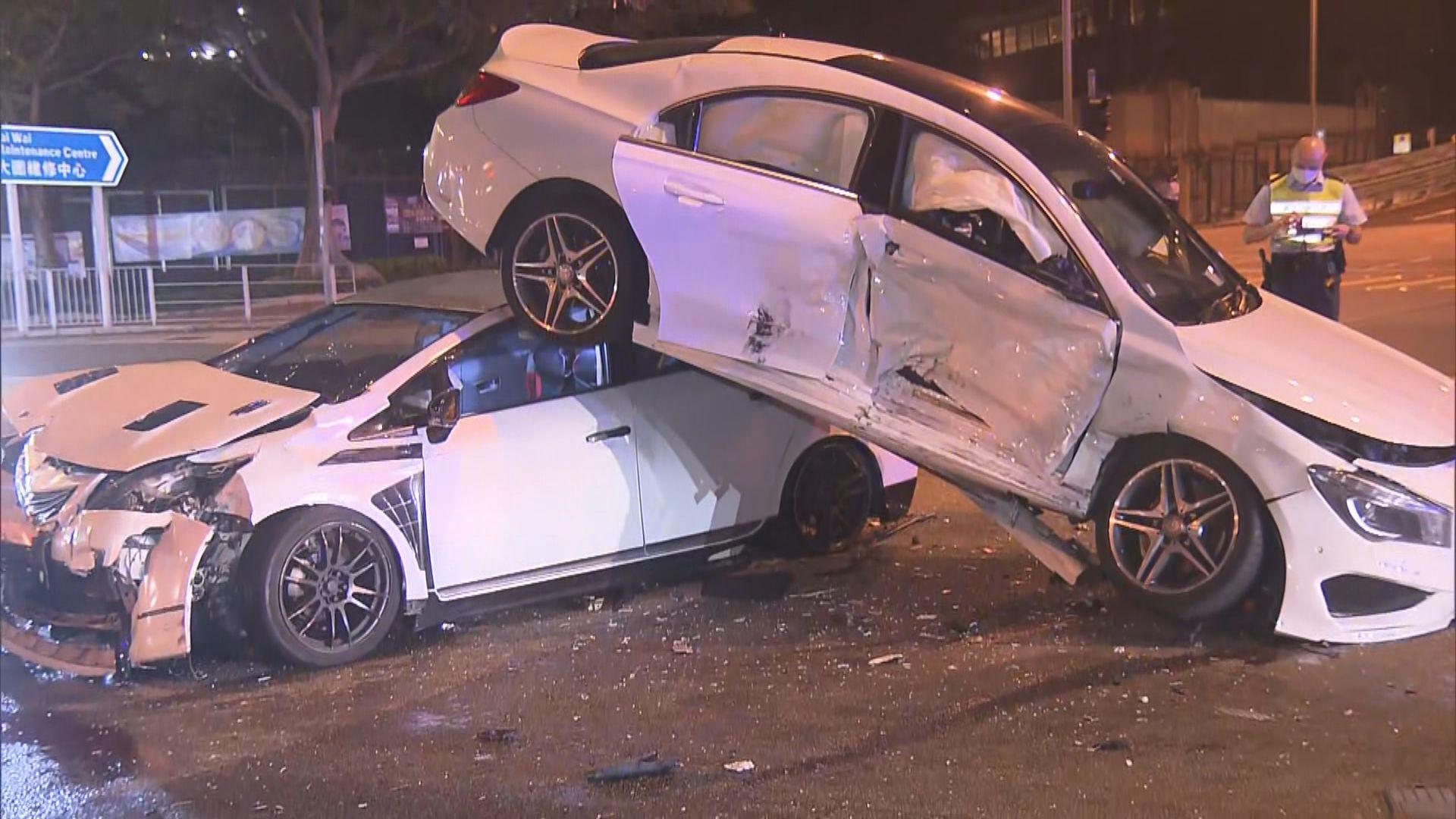 沙田大圍兩車相撞釀三傷