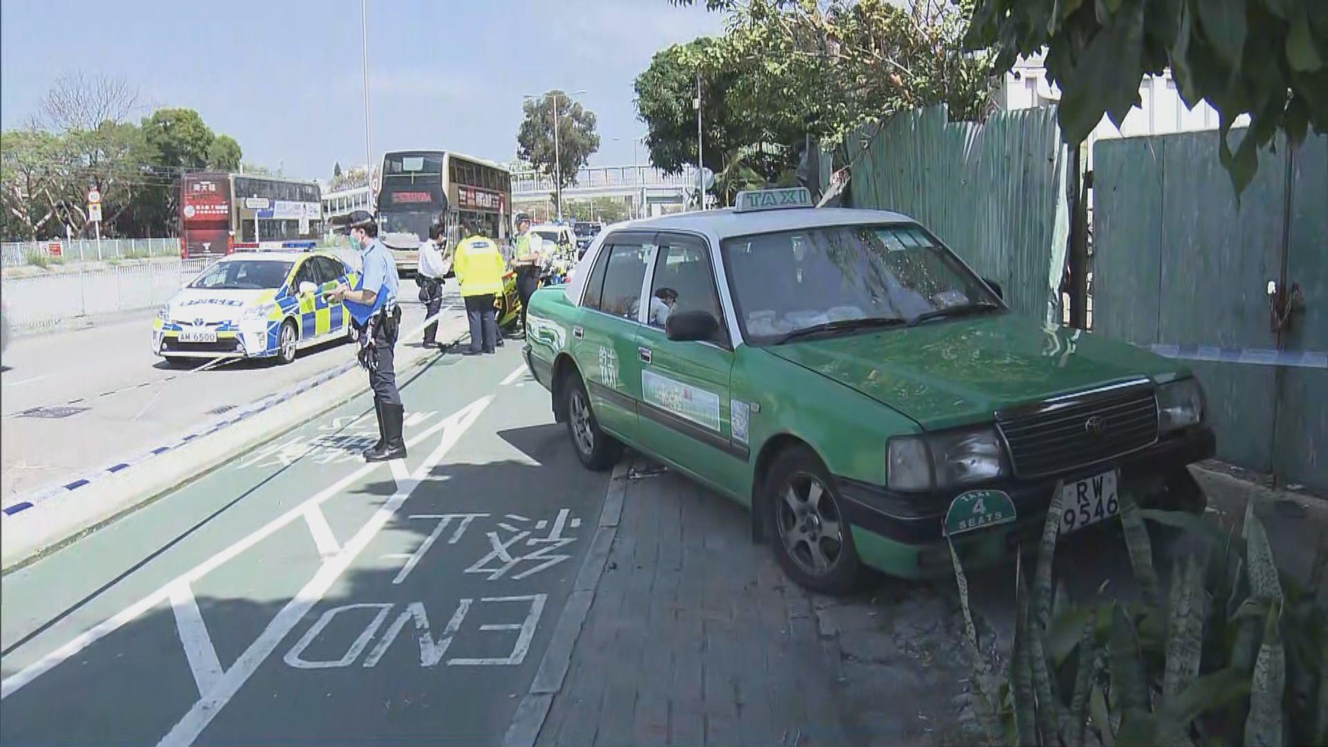 屯門的士衝入單車徑撞斃一名女子 司機被捕