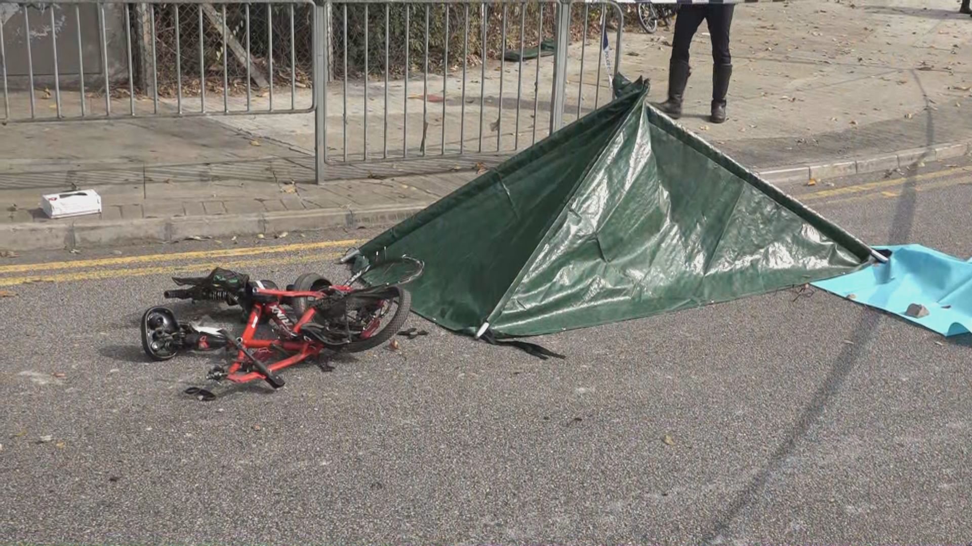 元朗踩單車老翁遭田螺車撞斃