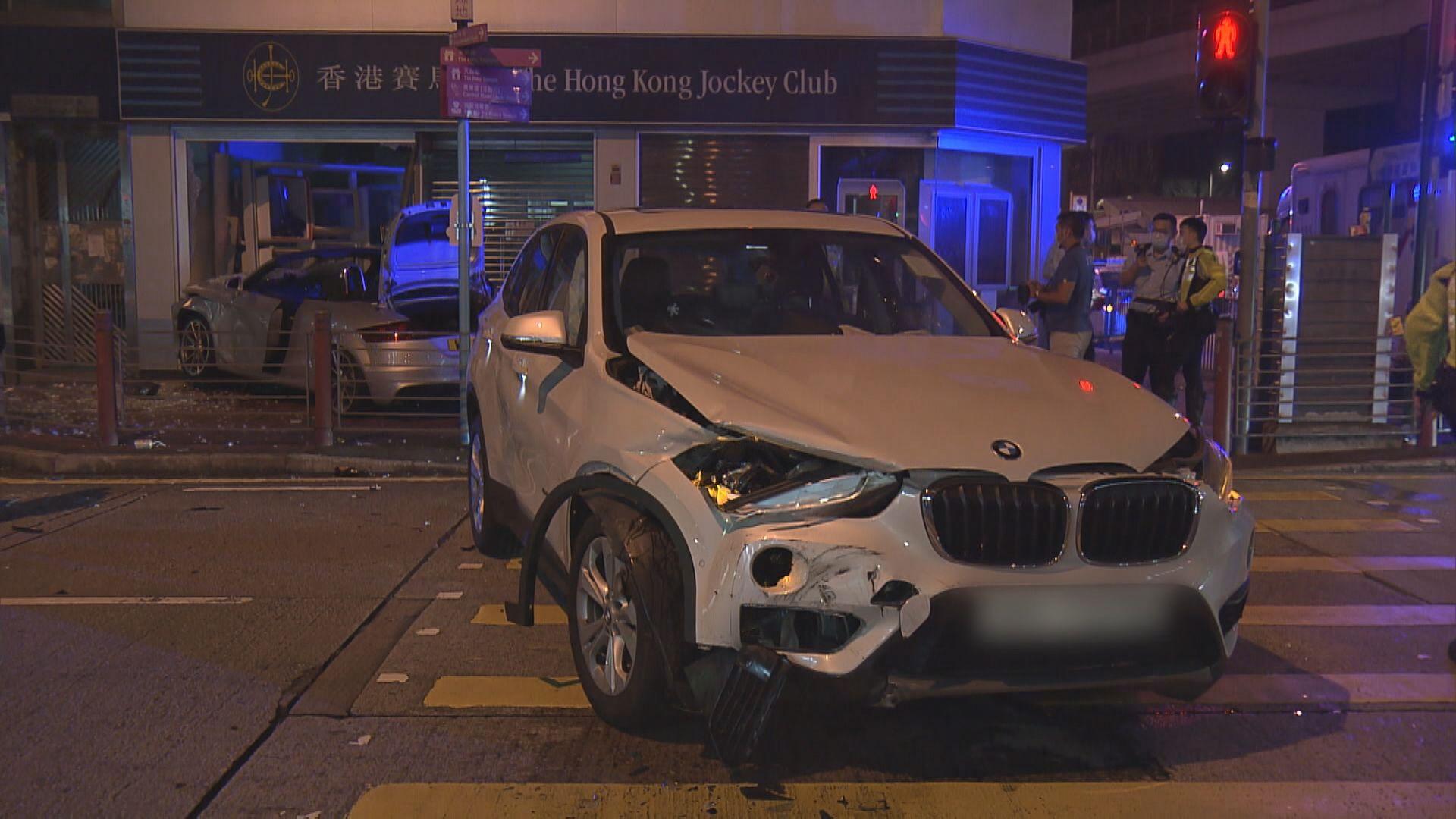 油麻地兩車相撞兩人不適 一名司機涉酒駕被捕