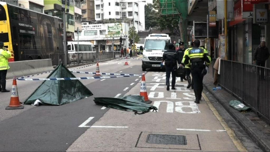 女子於香港仔被貨車撞斃 警緝貨車司機