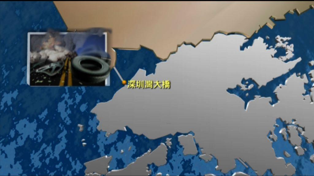 深圳灣大橋小巴工程車相撞 一死十傷