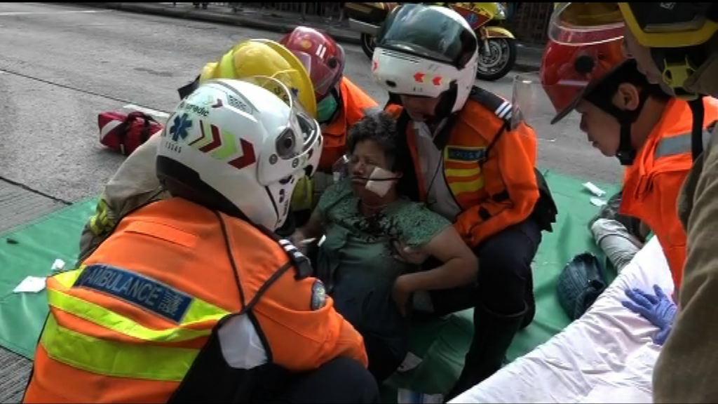 長沙灣小巴與巴士相撞多人受傷
