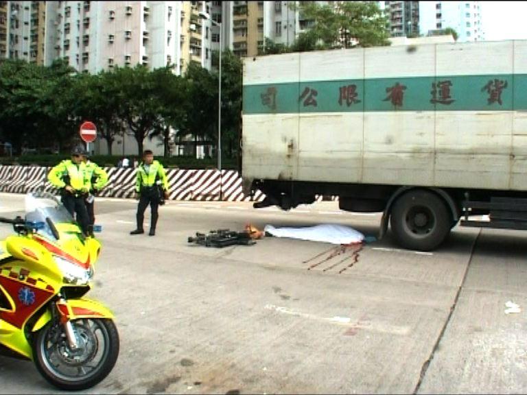 長沙灣輪椅婦遭貨車撞斃