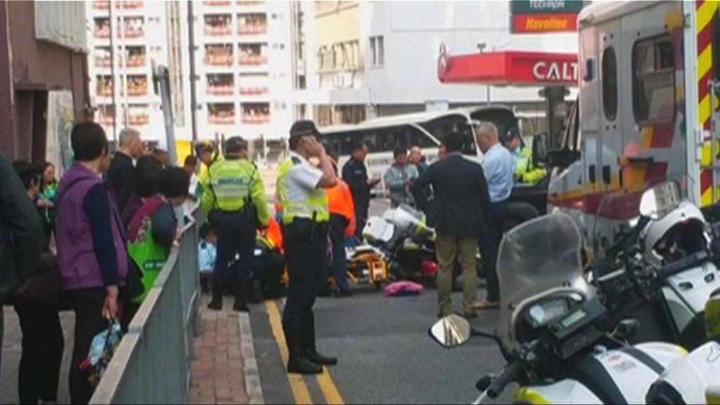 紅磡一名交通警員遇車禍受傷