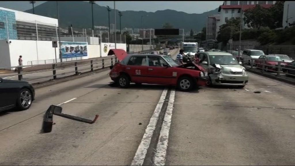 九龍塘四車相撞三人輕傷送院