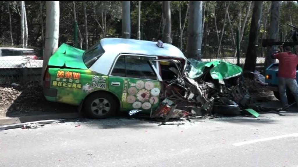 落馬洲四車相撞兩人傷送院