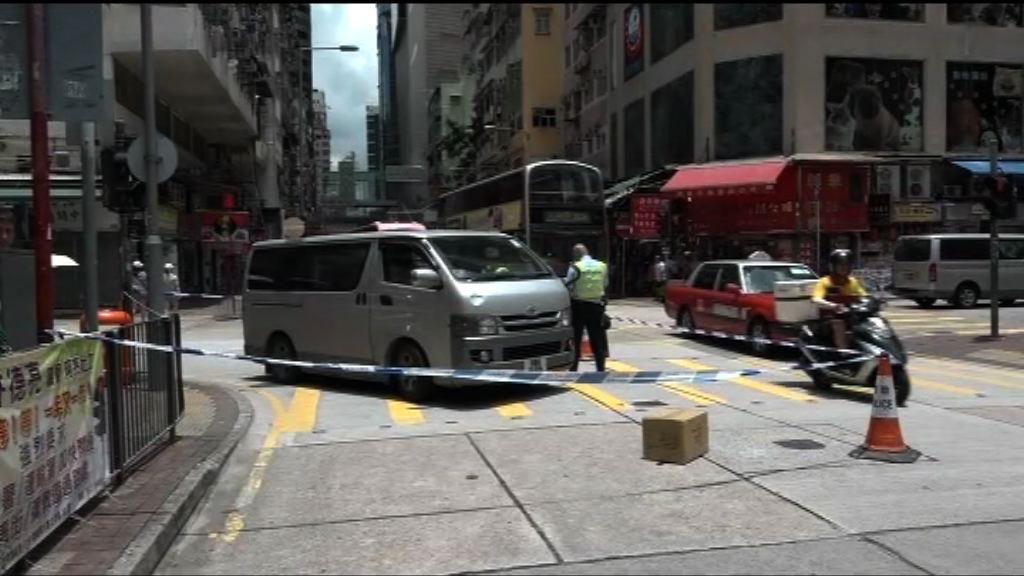 旺角客貨車撞斃過路老翁