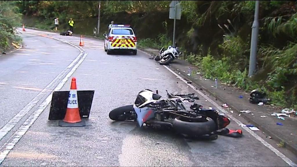 八鄉四車相撞意外 三人受傷