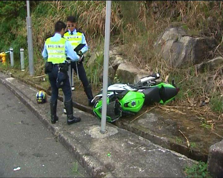 沙田電單車失控撞柱司機亡