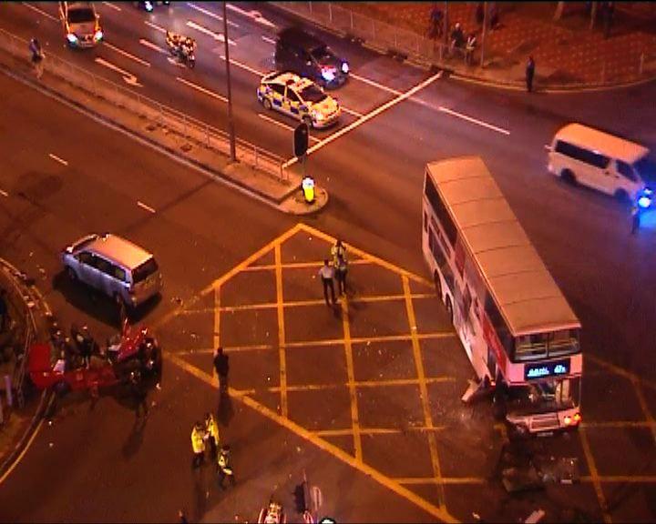 沙田交通意外1死19傷 巴士司機被捕