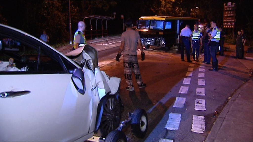 西貢私家車越線撼解款車釀四傷