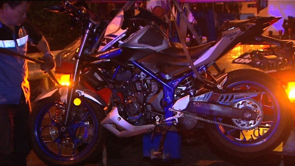 西貢交通意外鐵騎士受傷送院