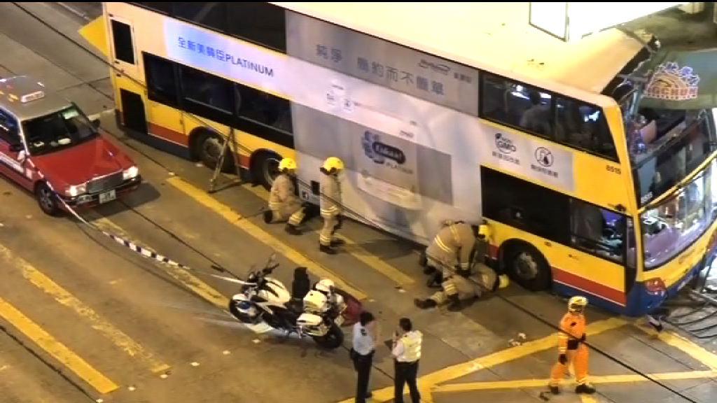城巴深水埗剷上行人路三死 司機被捕
