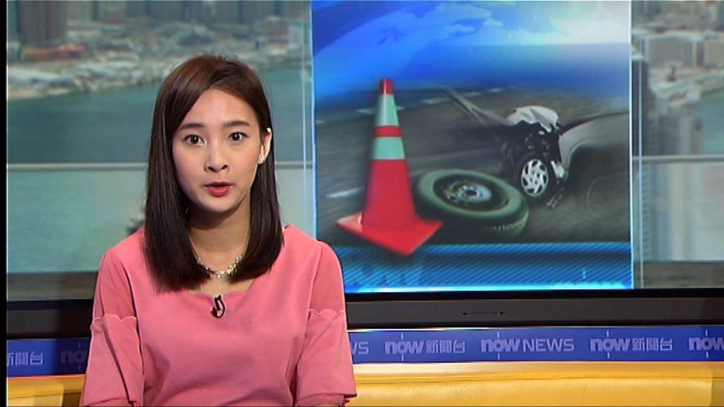 沙田大涌橋路小巴翻側 十多人傷