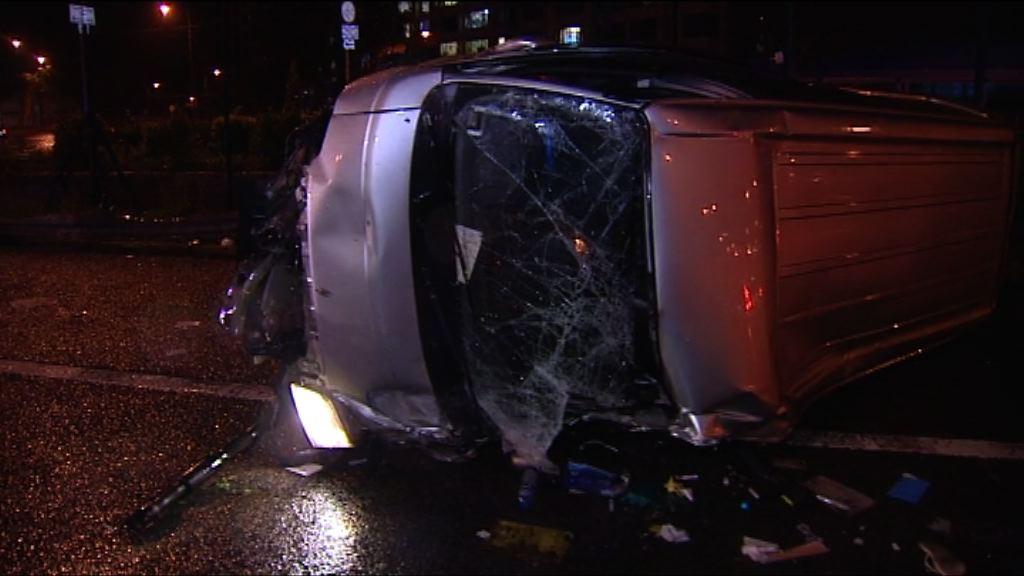 吐露港兩車相撞 警方調查是否有人亂切線