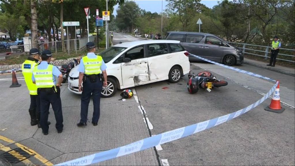 大埔發生三車相撞 電單車司機死亡