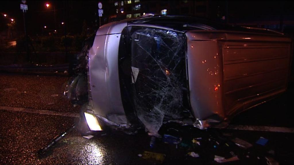 大埔吐露港兩車相撞釀一死兩傷