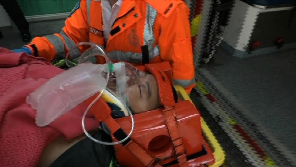 大潭道車禍兩人傷 的士司機被捕