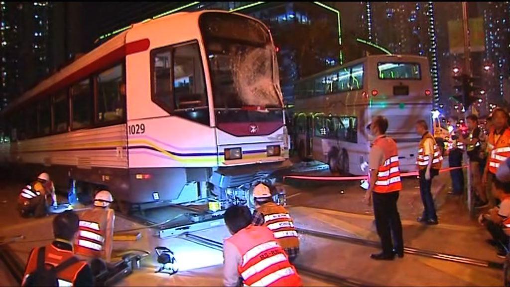 巴士輕鐵天水圍相撞廿二傷 未有人被捕