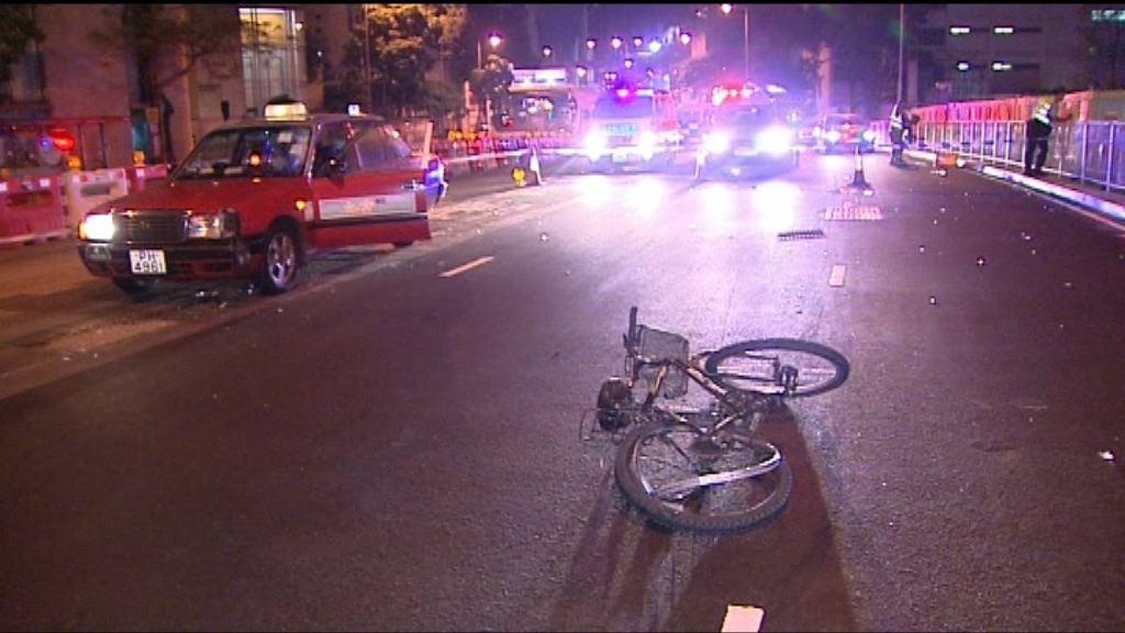 尖沙咀踏單車漢遭的士撞斃