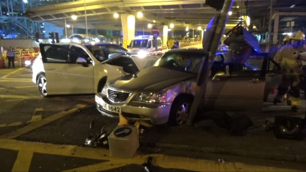 尖沙咀旺角發生車禍三人傷