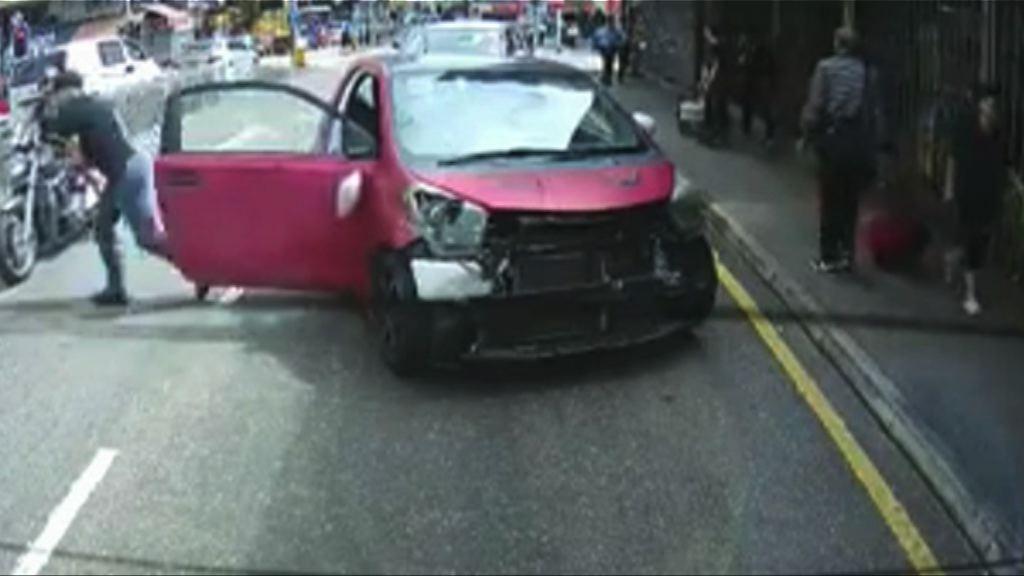 油麻地私家車瘋狂駕駛8人傷