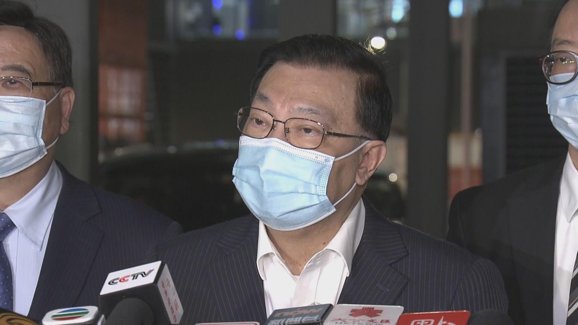 譚耀宗:資格審查委員會拒絕入閘原因未必需要公布