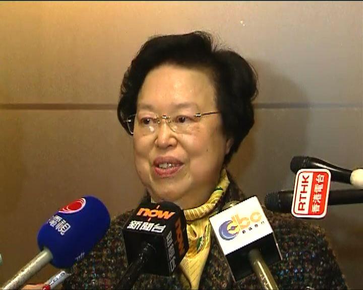 譚惠珠:應集中討論23條立法