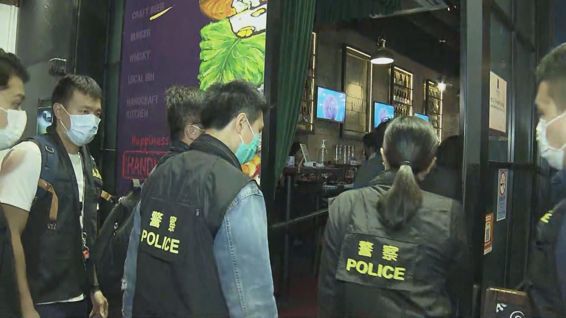 陳淑莊涉違限聚令 警方到涉事酒吧取證