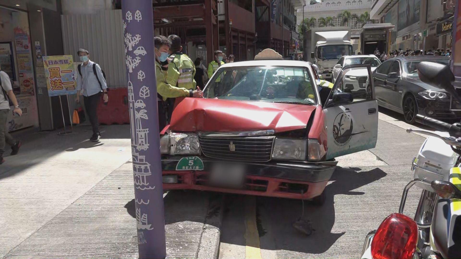 尖沙咀的士司機駕駛途中暈倒撞燈柱後不治