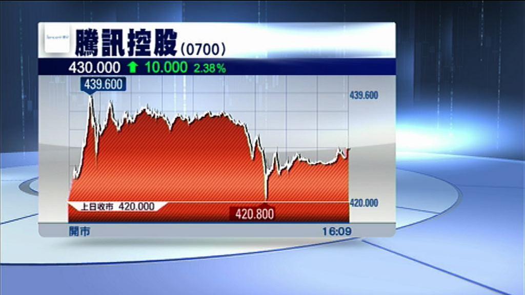 【邊等邊破頂】騰訊連升四日曾高見$439.6