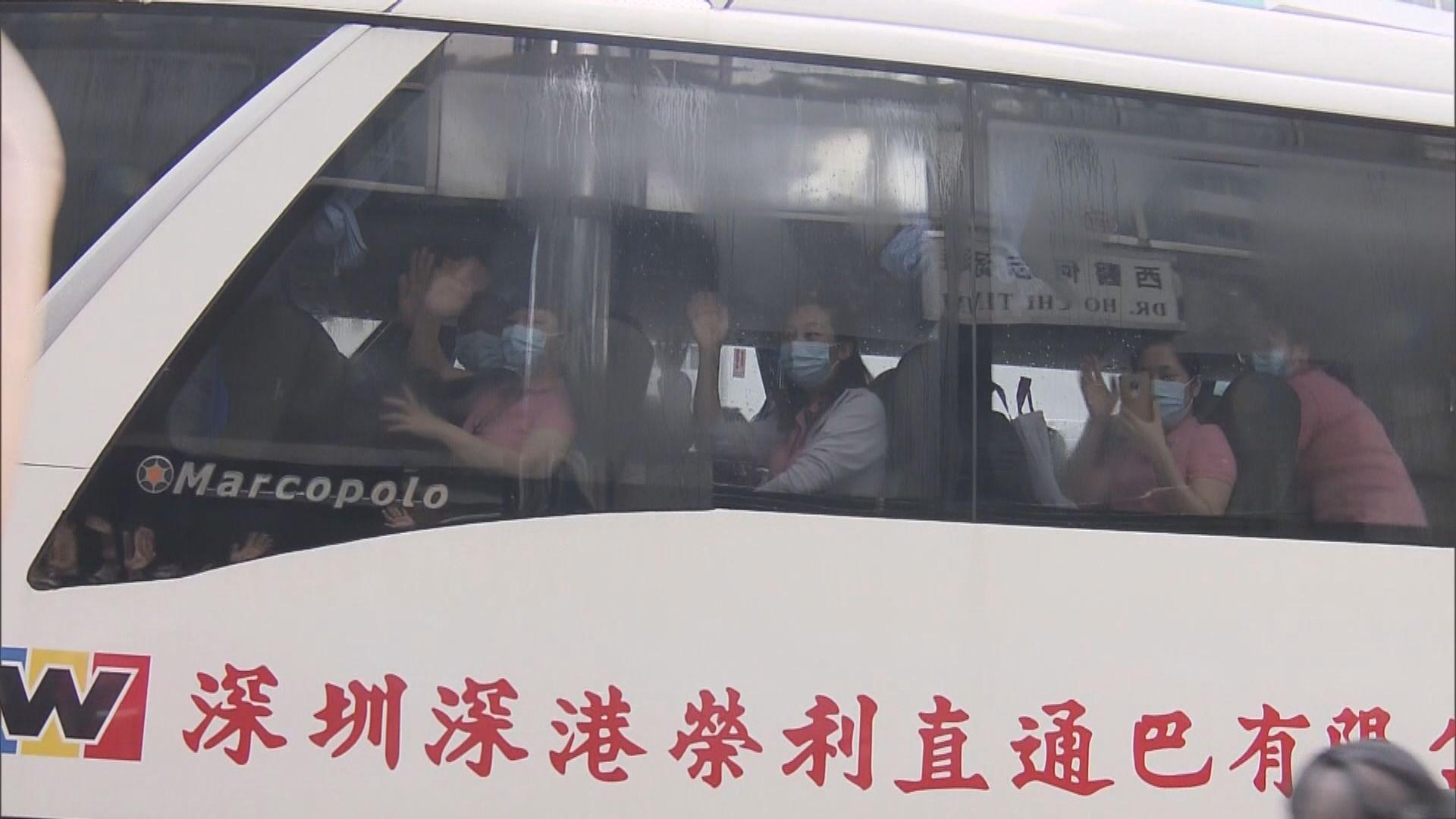 內地核酸檢測支援隊成員離開香港