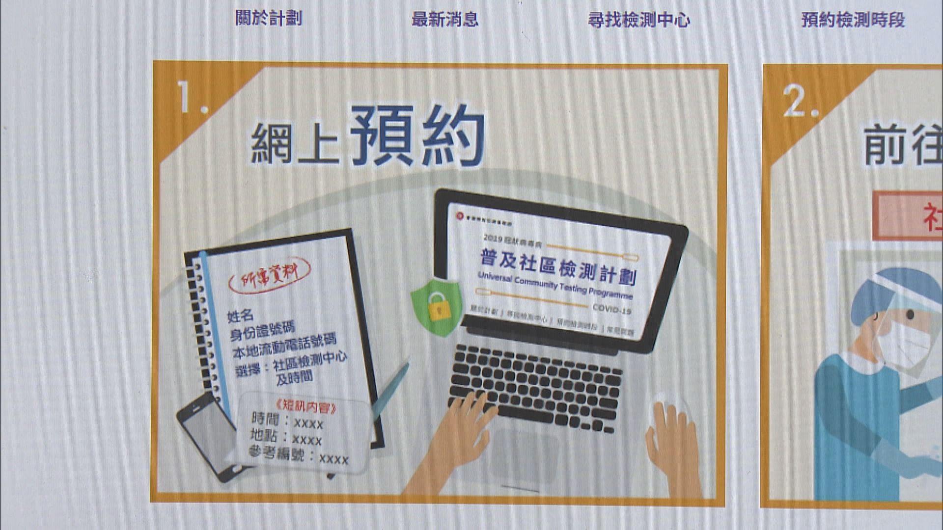 市民即日起可網上預約普及社區檢測計劃