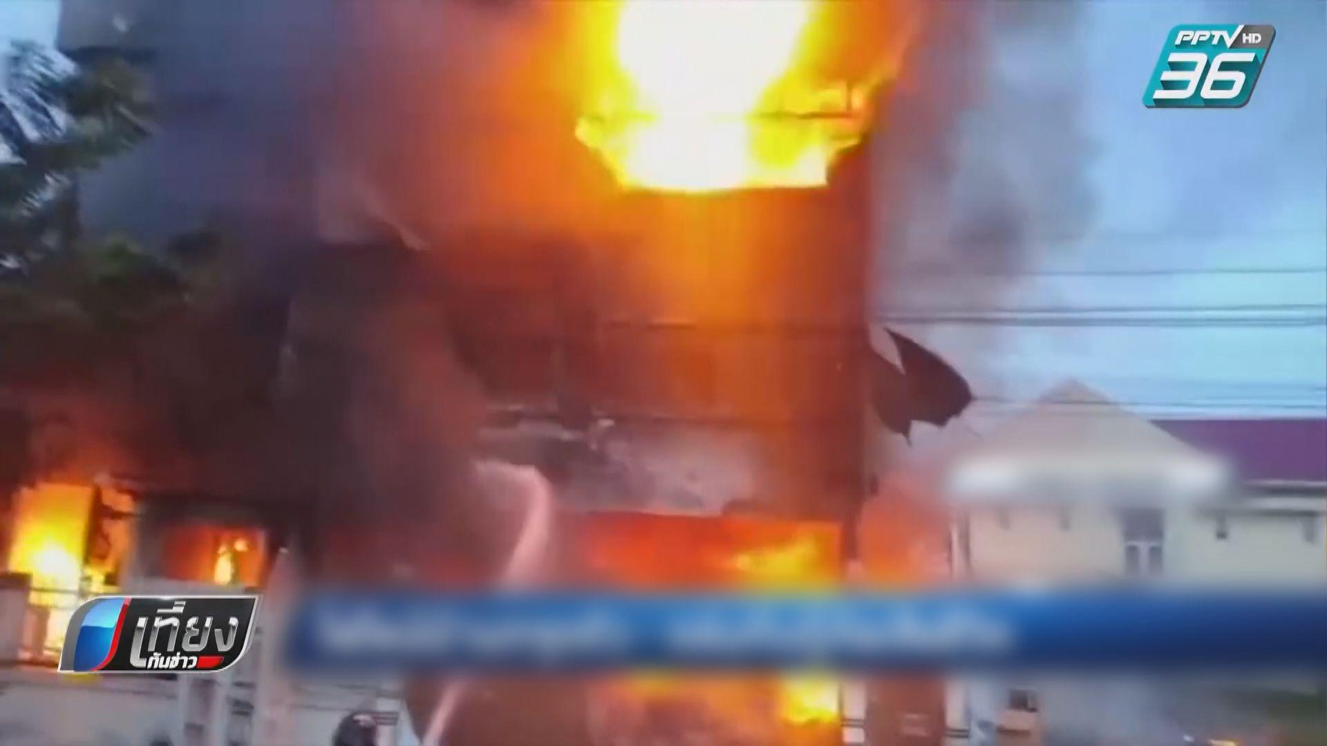 泰國曼谷西部豪宅大火後倒塌釀五死