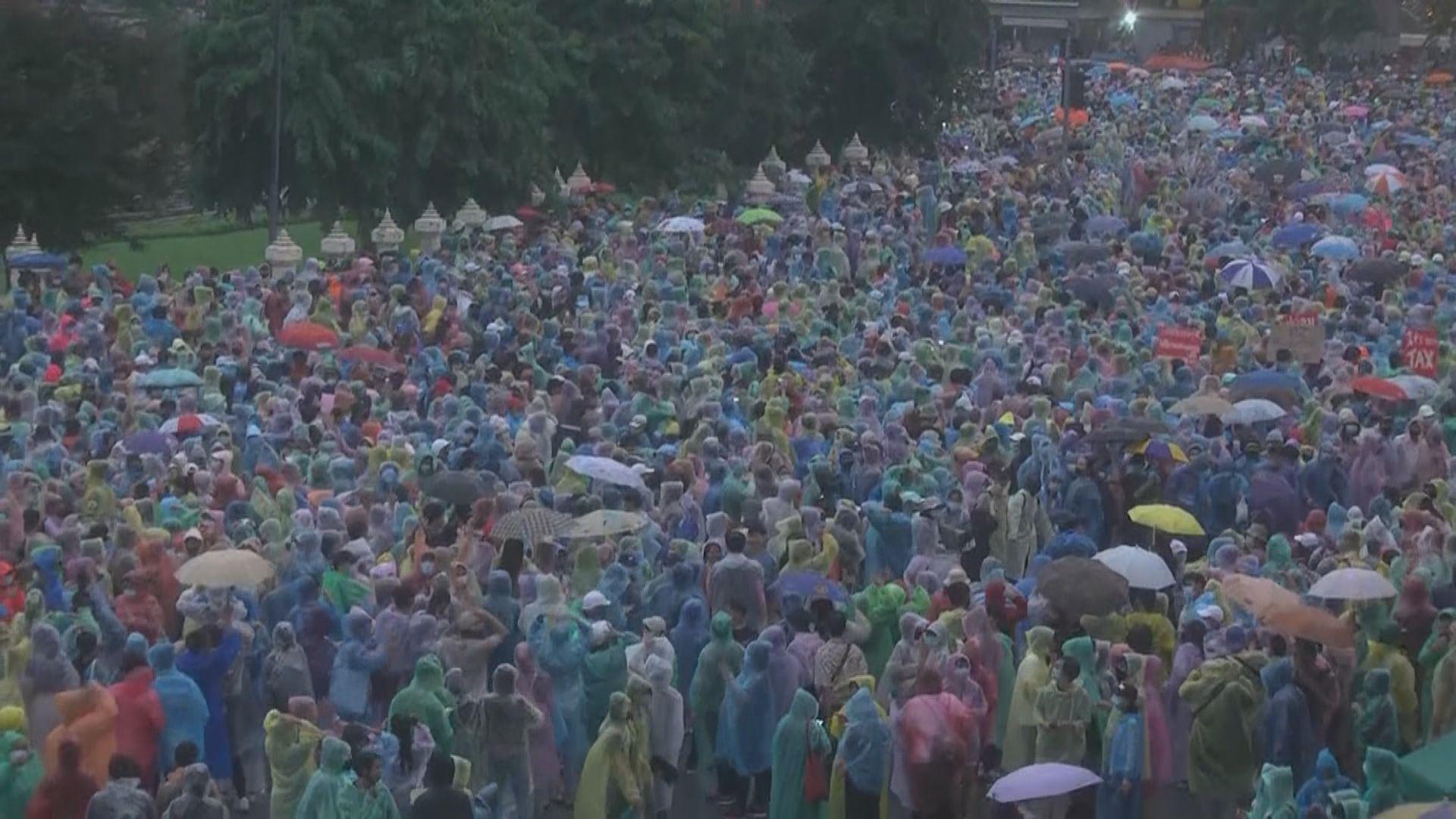 泰國示威團體指已逾80人被捕