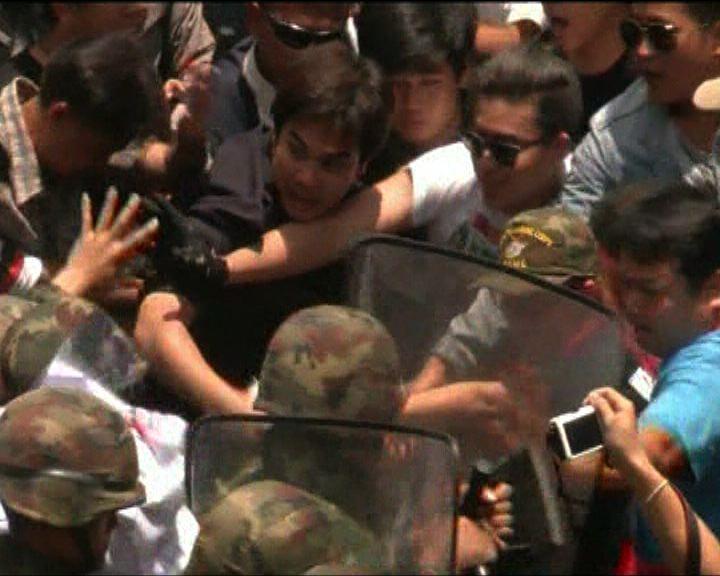 泰軍方呼籲民眾不要參與示威