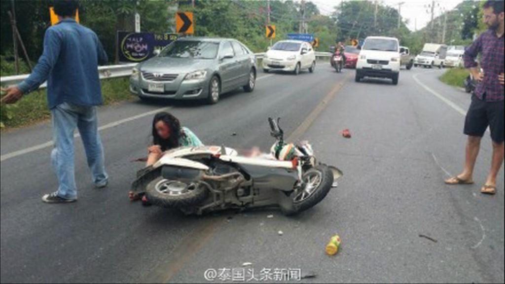 港人蘇梅島駕電單車遇車禍一死一傷