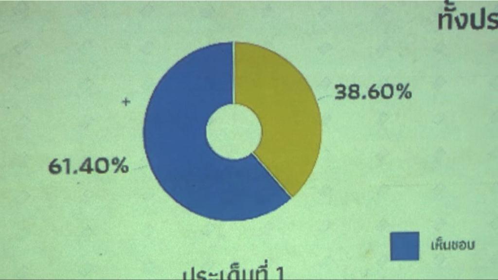 泰國公投通過新憲法草案