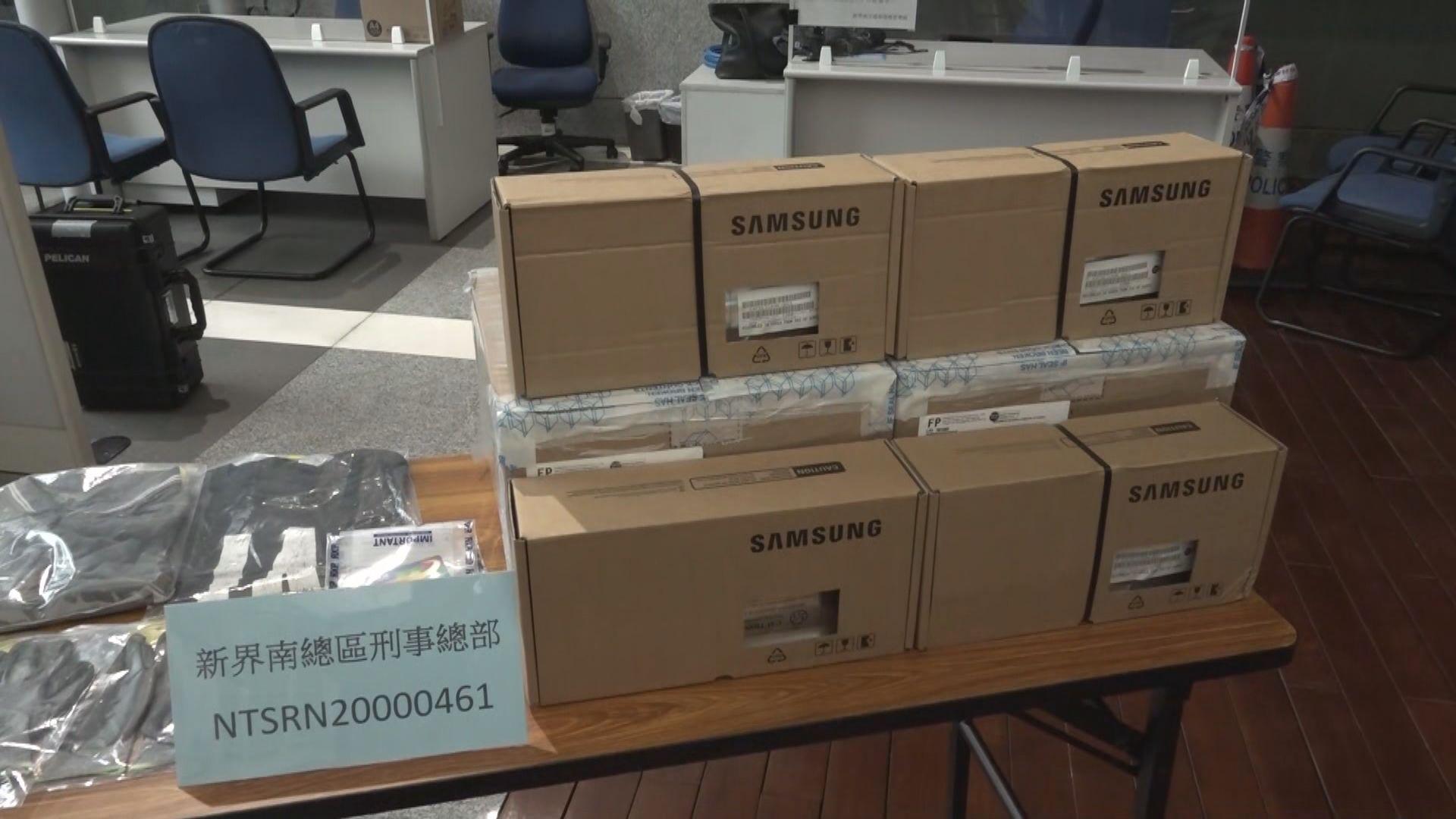 警方拘兩漢涉與12宗電子零件盜竊案有關