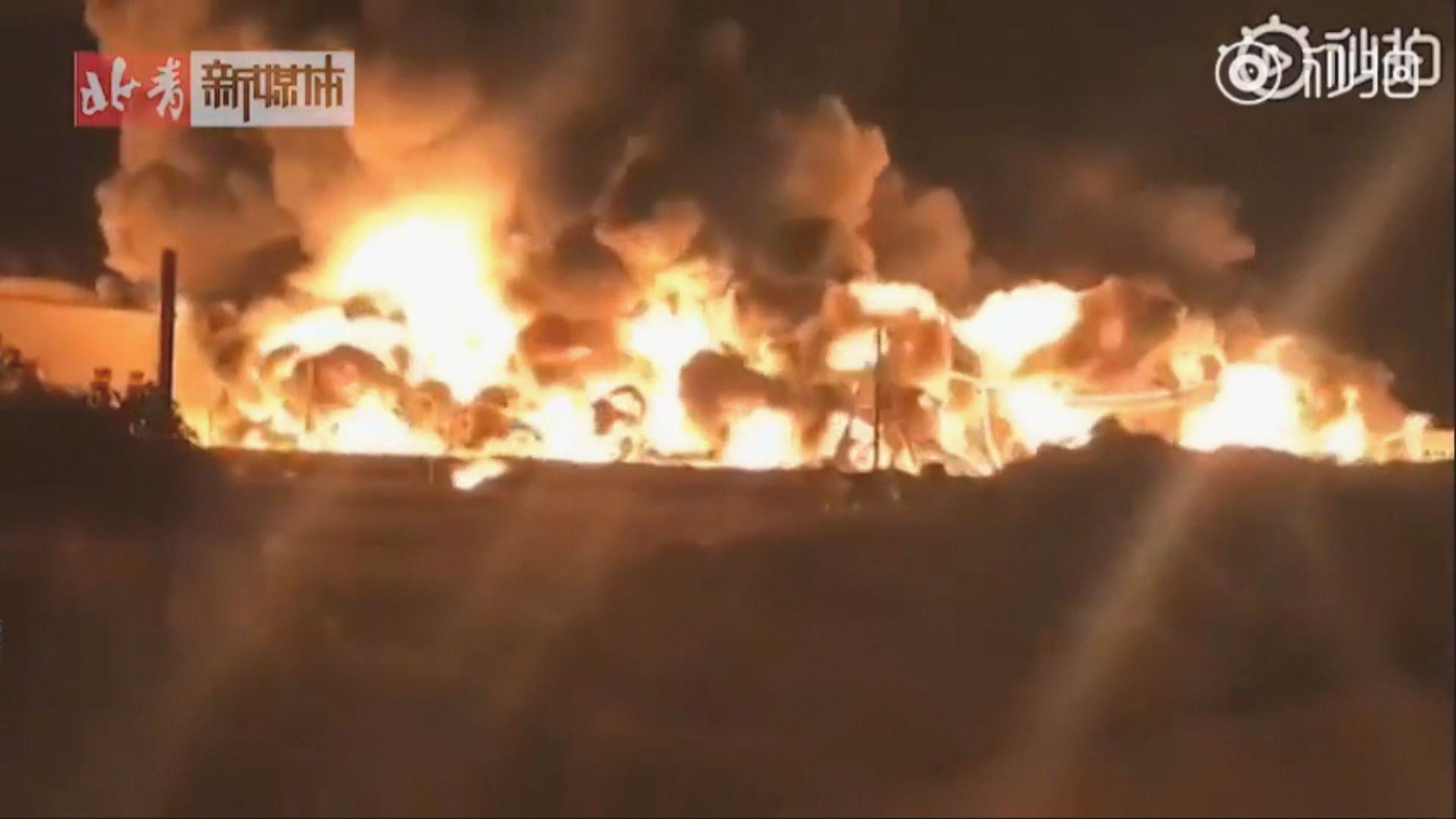 天津大港區一個倉庫大火