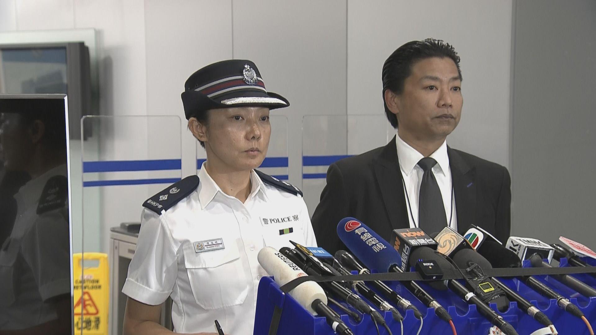 警方:有人稱警員推傷者落樓是造謠